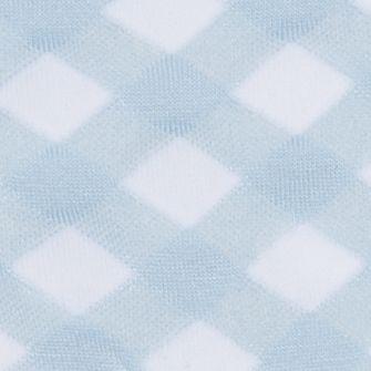 Hue Handbags & Accessories Sale: Light Blue/White HUE Femme Top Sock - Single Pair