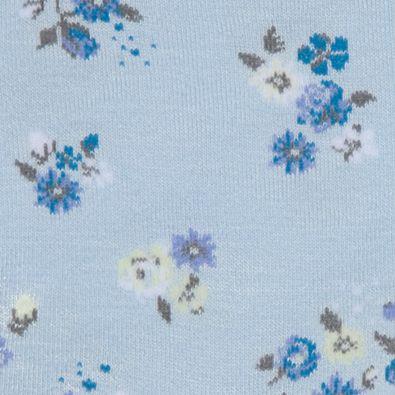 Handbags & Accessories: Socks Sale: Peri Blue/Floral HUE Femme Top Sock - Single Pair