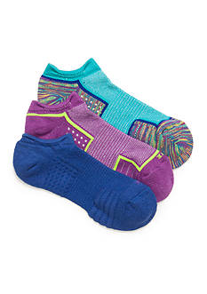 HUE Air Cushion No Show 3D Sole Socks - 3 Pack