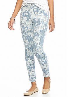 HUE Floral Stripe Super Smooth Jean Skimmer