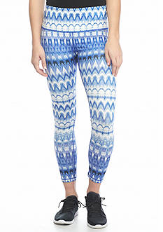 HUE Ikat Active Capri Leggings
