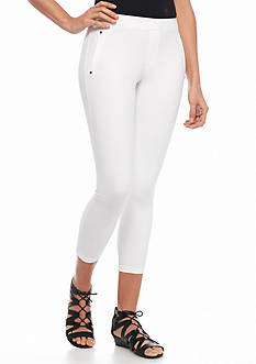 HUE Polished Twill Capri Leggings