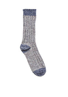 HUE Tweed Twist Ribbed Boot Socks - Single Pair