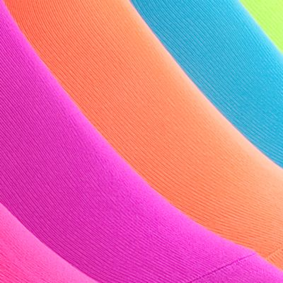 Women: Hue Accessories: Neon Assortmen HUE 6-Pack Microfiber Liners
