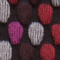 Dress Socks: Dark Rose HUE Cotton Body Socks - Single Pair