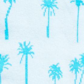 Handbags & Accessories: Socks Sale: Light Blue Palm HUE Jean Socks - Single Pair