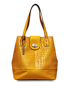 Franco Sarto U-Turn Leather Croco Tote