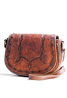 Frye Exclusive Flap Leather Saddle Bag