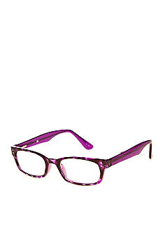 CMC by Corinne McCormack Purple Tortoise Shell Reading Glass