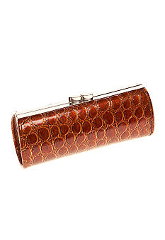 CMC by Corinne McCormack Rounded Faux Crocco Glasses Case