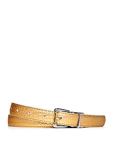 Lauren Ralph Lauren Croc to Patent Reversible Belt