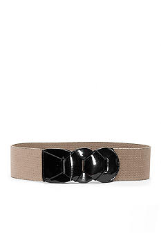 Lauren Ralph Lauren Link Patent and Stretch Belt