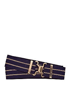 Lauren Ralph Lauren Striped Stretch Belt