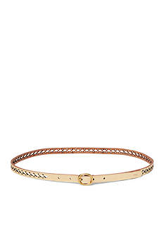 Ralph Lauren Cutout Leather Skinny Belt