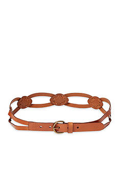 Ralph Lauren Braided Burnished Leather Belt