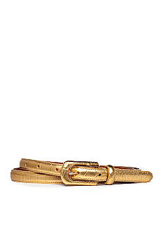 Lauren Ralph Lauren Faux Crocodile Belt