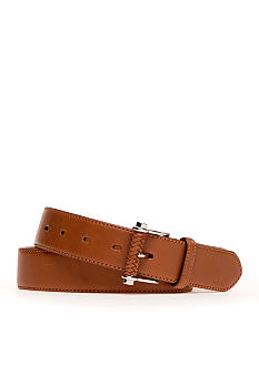 Lauren Ralph Lauren Vachetta Belt with Braided End Bar Buckle