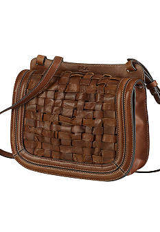 Lauren Ralph Lauren Jackson Hole Woven Leather Crossbody