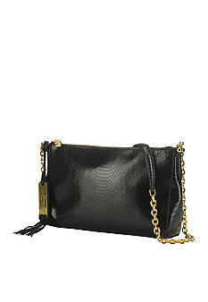 Lauren Ralph Lauren Banbury Leather Snake Chain Shoulder Bag