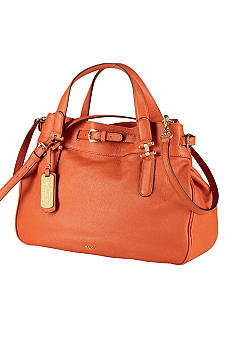 Lauren Ralph Lauren Leather Belted Satchel