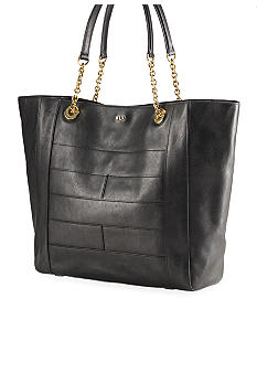 Lauren Ralph Lauren Chain-Handle Leather Tote