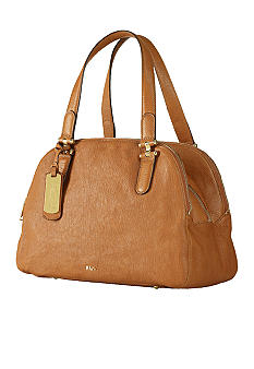 Lauren Ralph Lauren Chandler Leather Triple-Compartment Satchel