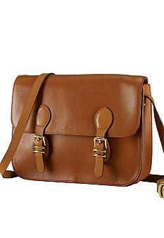 Lauren Ralph Lauren Bexley Heath Medium Leather Messenger Bag
