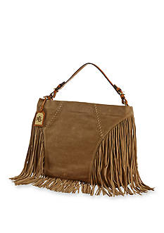 Lauren Ralph Lauren Large Fringed Faulk Hobo