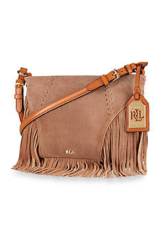 Lauren Ralph Lauren Fringed Faulk Crossbody