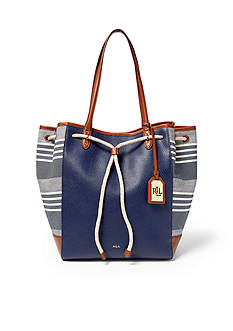 Lauren Ralph Lauren Striped Oxford Tote