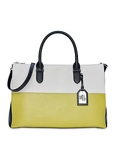 Lauren Ralph Lauren Newbury Tri-Color Double Zip Satchel