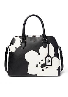Lauren Ralph Lauren Harrington Floral Dome Satchel