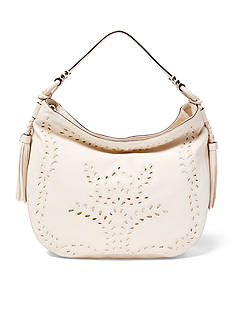 Ralph Lauren Jamie Perforated Leather Hobo Bag