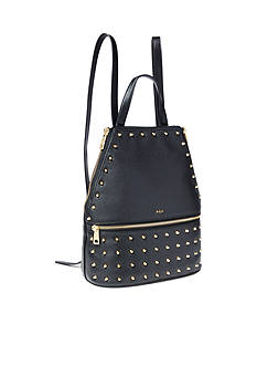 Ralph Lauren Arley Blaine Studded Leather Backpack