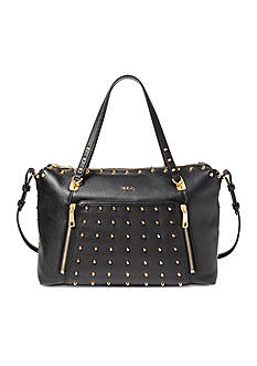 Ralph Lauren Arley Ally Studded Leather Satchel