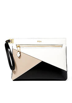 Ralph Lauren Newbury Yasmeen Color-Blocked Clutch