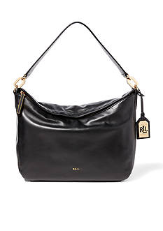 Lauren Ralph Lauren Medium Callen Leather Hobo Bag