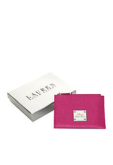 Lauren Ralph Lauren Newbury Leather Zip Card Case