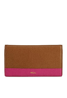 Lauren Ralph Lauren Newbury Leather Color-Blocked Slim Wallet