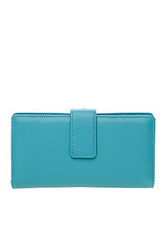 Kim Rogers Rio Leather Frame Checkbook Clutch