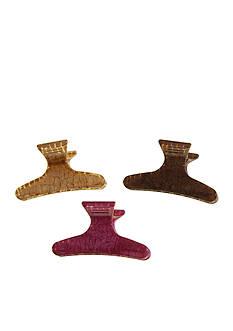 Riviera Crocodile Print Claw Clip - 3 Pack