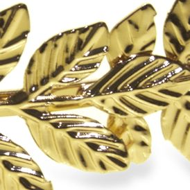 Womens Hats: Gold Riviera METAL LEAF HB