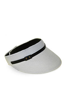 Nine West Canvas and Straw Visor