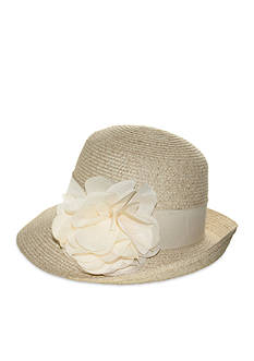 Nine West Packable Flower Cloche Hat