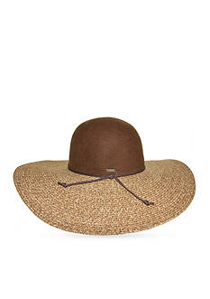 Nine West Felt and Straw Floppy Hat
