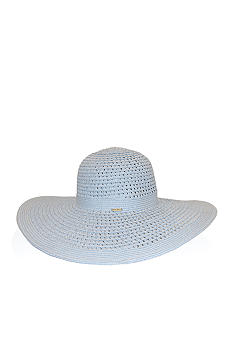 Nine West Packable Open Weave Floppy Hat