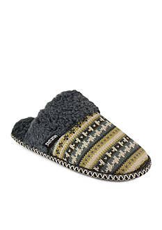 MUK LUKS Fairisle Knit Scuff Slippers