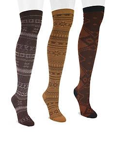MUK LUKS Women's Microfiber 3-Pair Over the Knee Socks
