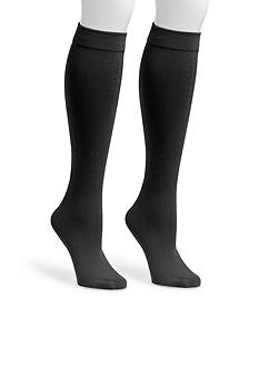 MUK LUKS Women's Fleece Lined 2-Pair Knee High Socks