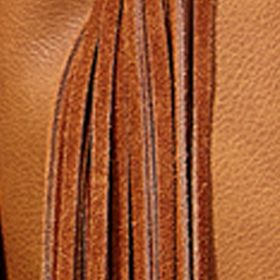 Big Buddha: Brown Big Buddha Fringe Benefits Belted Crossbody Bag